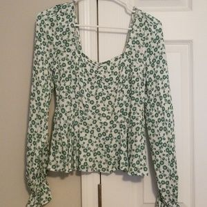 Small Floral Long Sleeve Francesca's Top